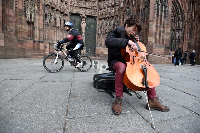 Cathédrale de Strasbourg, violoncelliste
