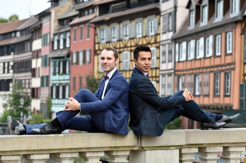 mariage gay strasbourg, séance engagement