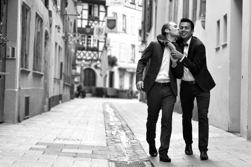 mariage homo strasbourg, photo de couple