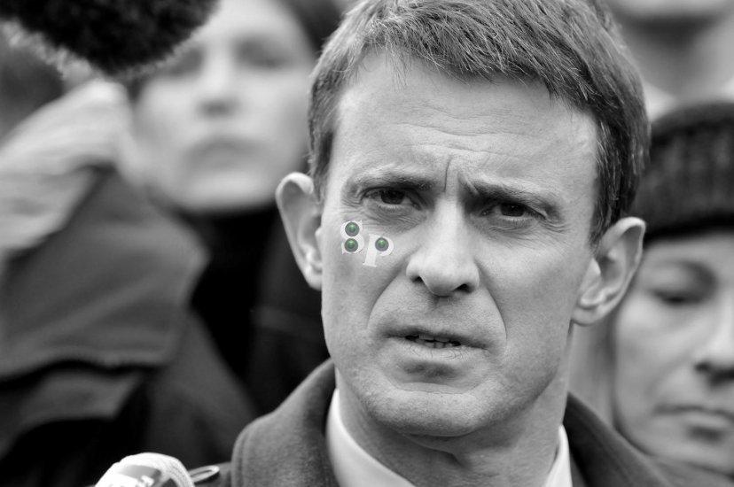 Manuel Valls au Marché de Noël de Strasbourg