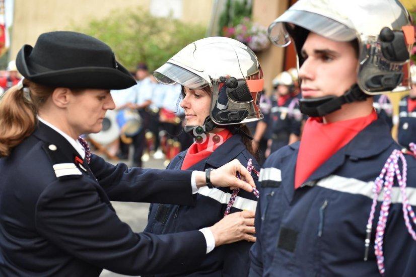 remise des médailles aux pompiers