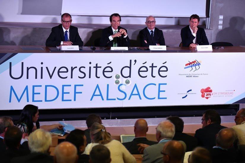 Université d'été du MEDEF Alsace 2014