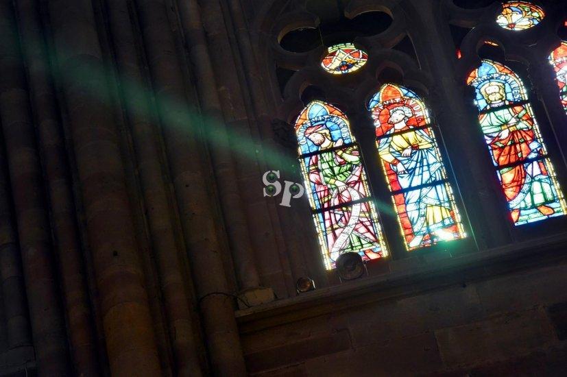rayon vert de la cathédrale de Strasbourg