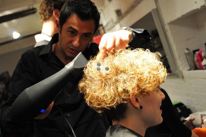 photos de mode show coiffure Tigi
