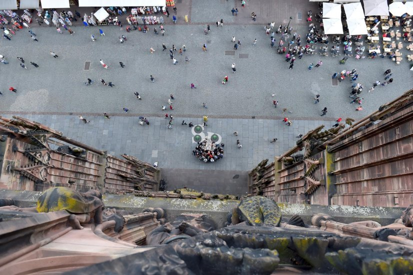 vues de Strasbourg depuis la Cathédrale