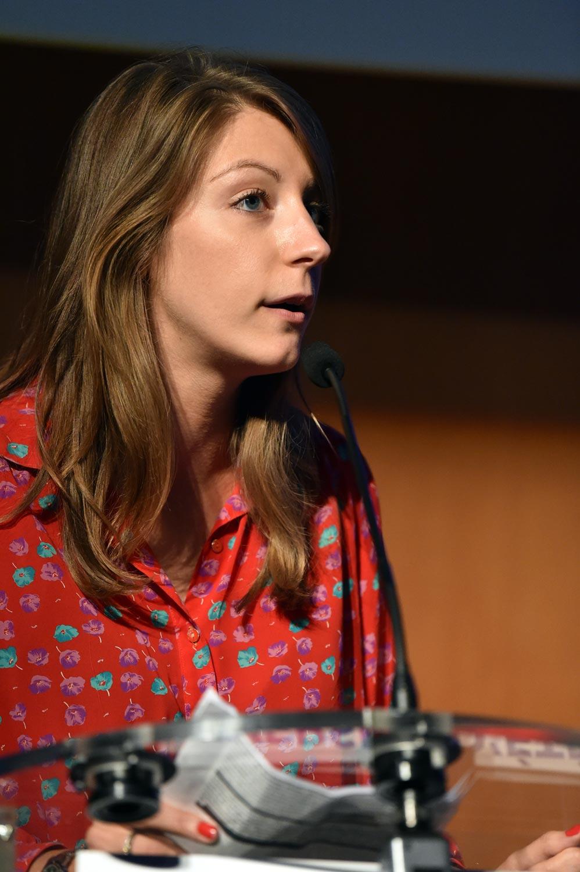 Laura Lange pendant les 6è université d'été des Entrepreneurs d'Alsace