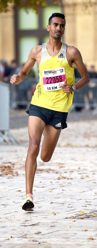Abdelilah Cherkaoui, vainqueur du 10km à Metz